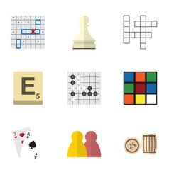 Flat icon play set of cube mahjong gomoku and vector
