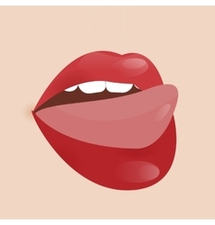 Glamour lip icon vector