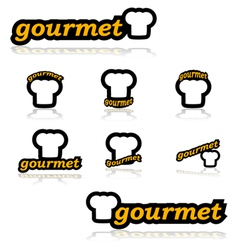 Gourmet icons vector