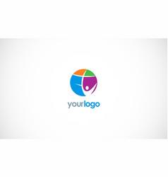 happy man cross logo vector image