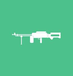 Icon military heavy machine gun vector