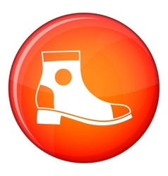 Men boot icon flat style vector image