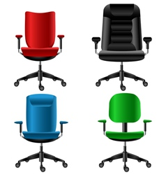Office chair set vector image vector image