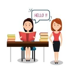 People talking speech communication vector