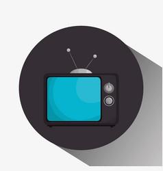 retro tv isolated icon vector image vector image