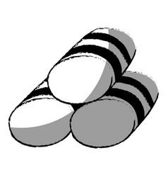set towels spa icon vector image vector image