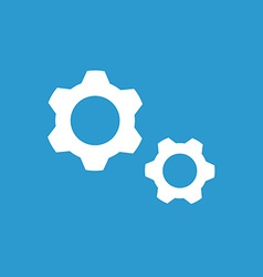 Settings icon white on the blue background vector image