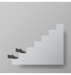 staircase upstairs vector image vector image