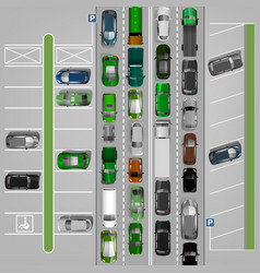 traffic jam image vector image