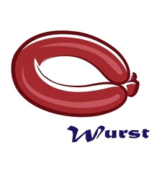 Wurst or sausage icon vector