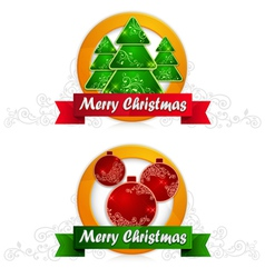Christmas label vector