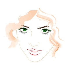 Womans face vector