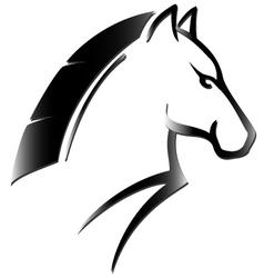 horse head tattoo vector image