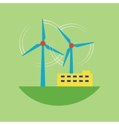 Alternative energy source wind station vector
