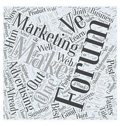 Forum marketing advertising online word cloud vector