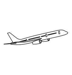 Figure fly airplane transportation vector