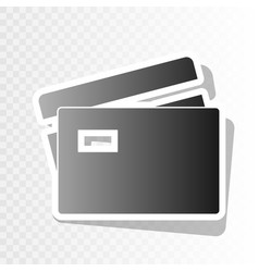 credit card sign  new year blackish icon vector image
