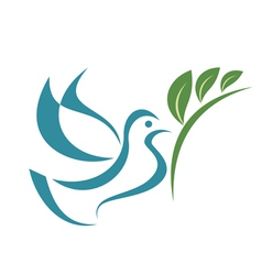 Pigeon of peace isolated symbol vector