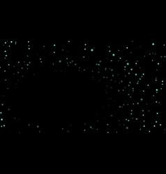 stars on black night background vector image