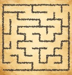 Golden maze vector image
