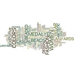 Beaded lanyards quasi jewelry text background vector