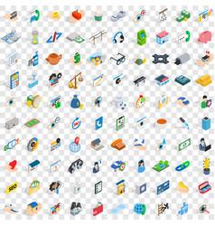 100 medicine icons set isometric 3d style vector