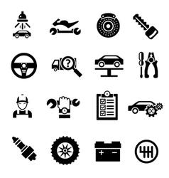 Car Repair Icons Black vector image