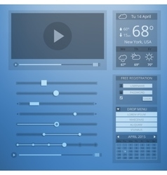 Ui transparency flat design of web elements vector