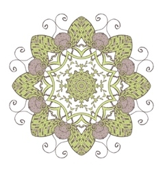 Mandala ethnic lace round ornamental pattern vector