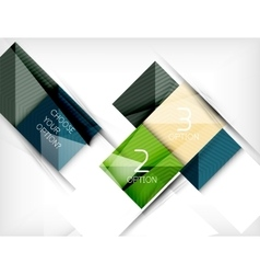 Paper square shapes banner vector