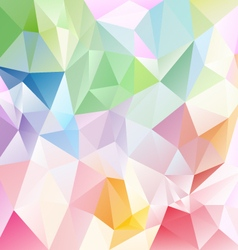 Light full spectrum abstract polygon triangular vector