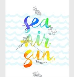 Summer vacation hand drawn vector