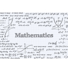 Mathematical pattern background in notebook vector image