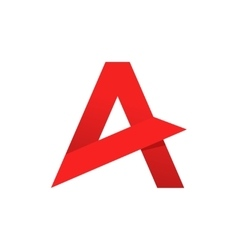 Abstract letter a logo template sharp vector