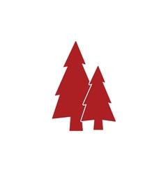 Fir trees icon vector