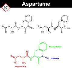 Aspartame artificial sweetener vector