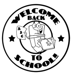 Back to school logo cartoon vector image vector image