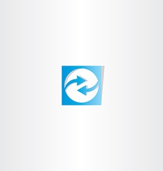 blue arrow square logo vector image