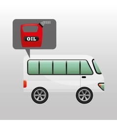 Bus white canister oil vector