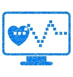 Cardio monitoring grainy texture icon vector
