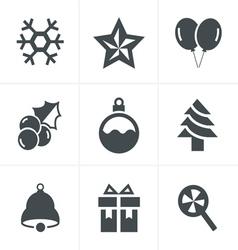 Christmas Icons Set Design vector image vector image