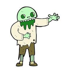 Comic cartoon spooky zombie vector