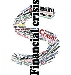 crisis dollar vector image vector image