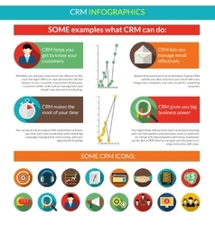 Crm infographics set vector