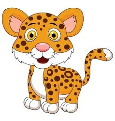 Cute leopard cartoon vector image vector image