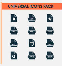Document icons set with eps special electronic vector