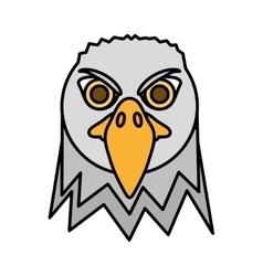 eagle head face icon vector image