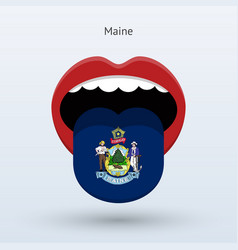 electoral vote of maine abstract mouth vector image vector image