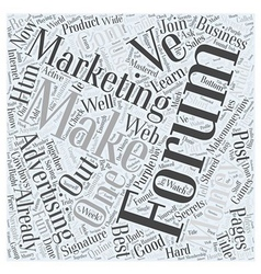 Forum marketing advertising online word cloud vector