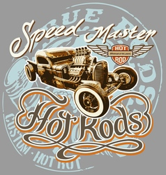 hot rod speed vector image vector image
